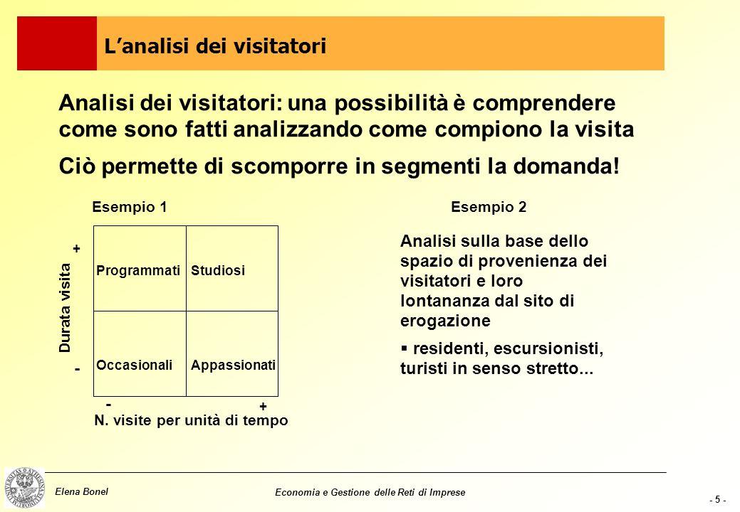 - 4 - Elena Bonel Economia e Gestione delle Reti di Imprese Modi di fruizione molteplici...ma ci sono 3 dimensioni principali di analisi: motivazione
