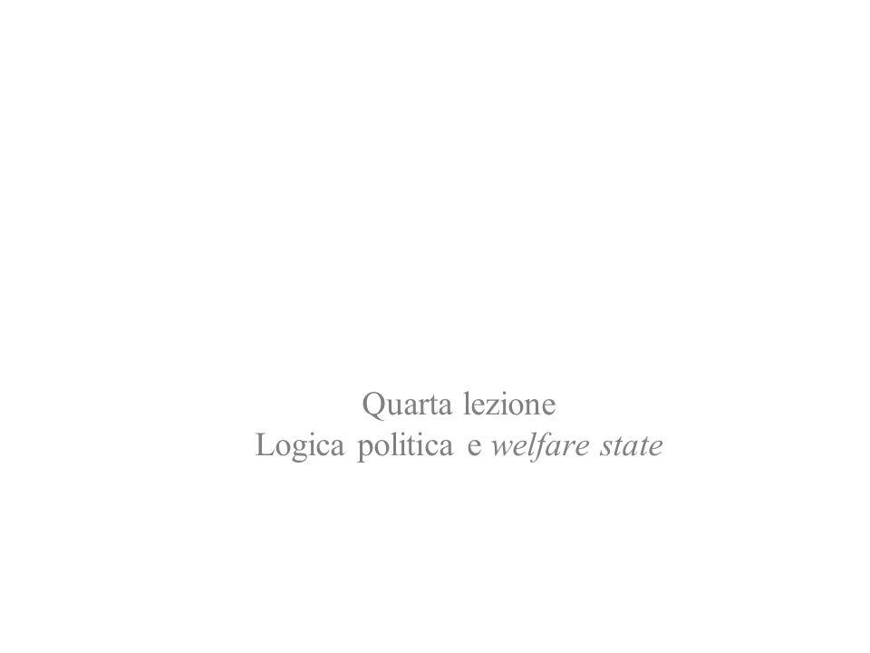 Quarta lezione Logica politica e welfare state