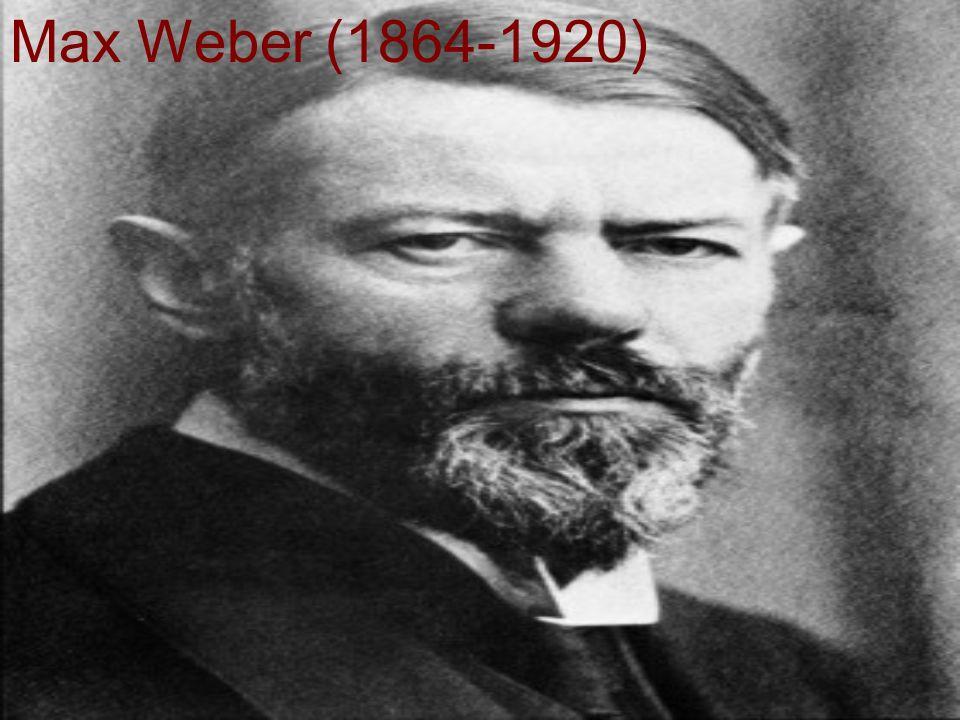 Max Weber (1864-1920)