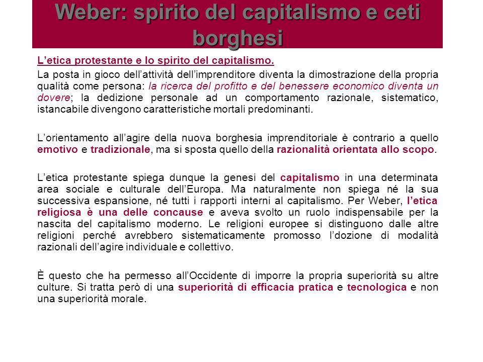 Letica protestante e lo spirito del capitalismo. La posta in gioco dellattività dellimprenditore diventa la dimostrazione della propria qualità come p
