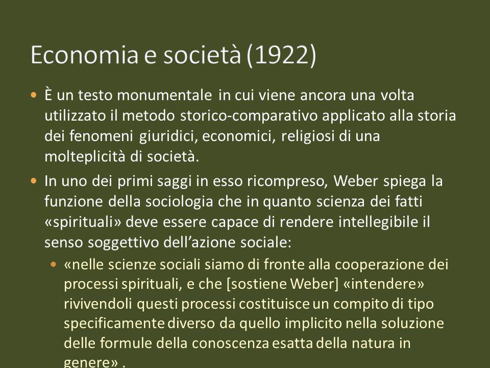 È un testo monumentale in cui viene ancora una volta utilizzato il metodo storico-comparativo applicato alla storia dei fenomeni giuridici, economici,