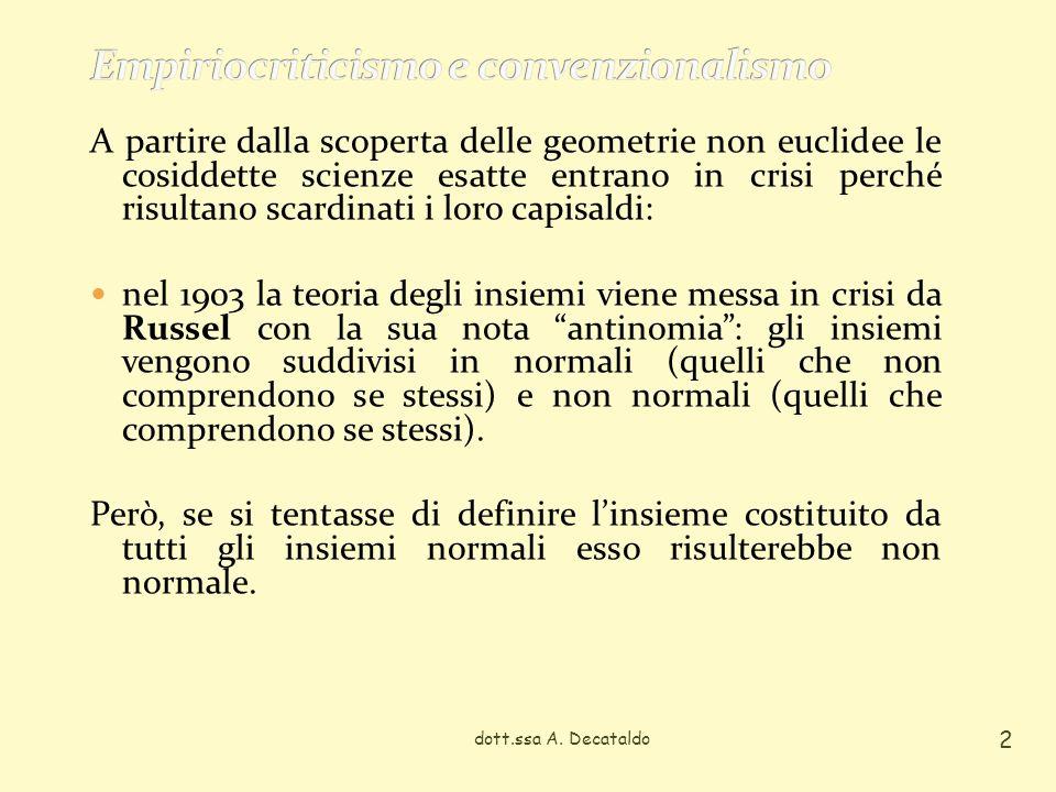 Questa antinomia determina un elemento di crisi molto forte allinterno della Logica, evidenziando come la congettura (lindeterminatezza) sia costitutiva del sapere scientifico.