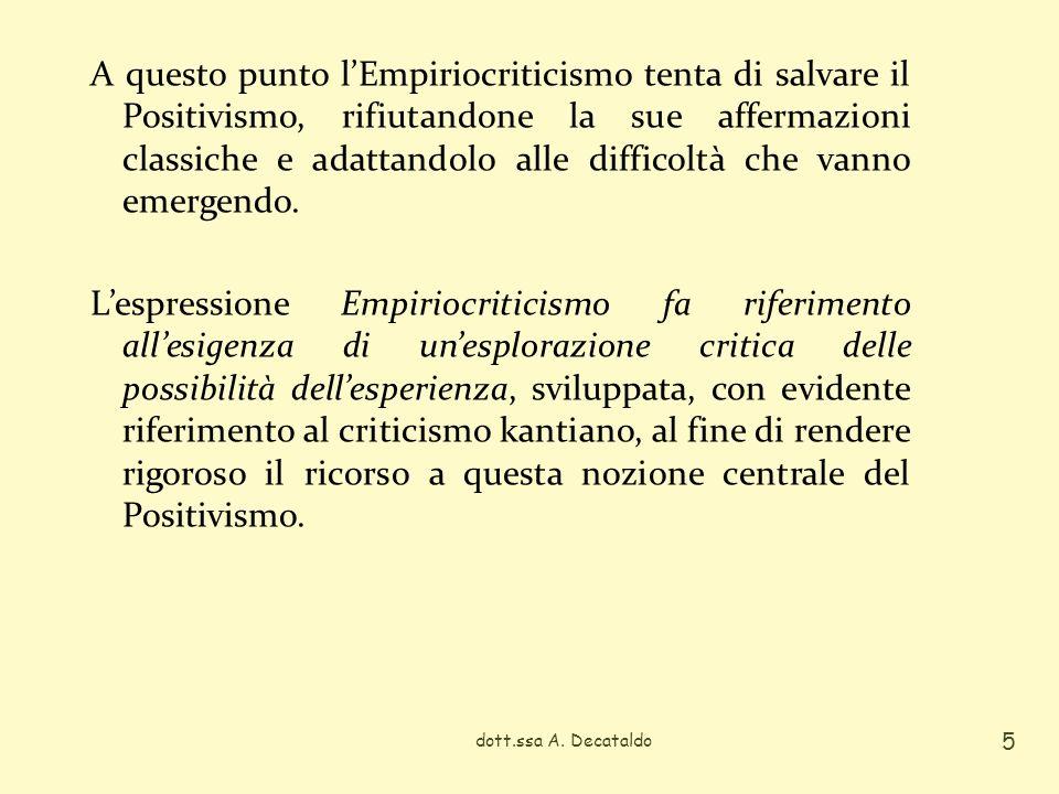 Lidea fondamentale di Ernst Mach (1838-1916), esponente di spicco dellEmpiriocriticismo, è che la scienza costituisca un mezzo di adattamento delluomo allambiente.