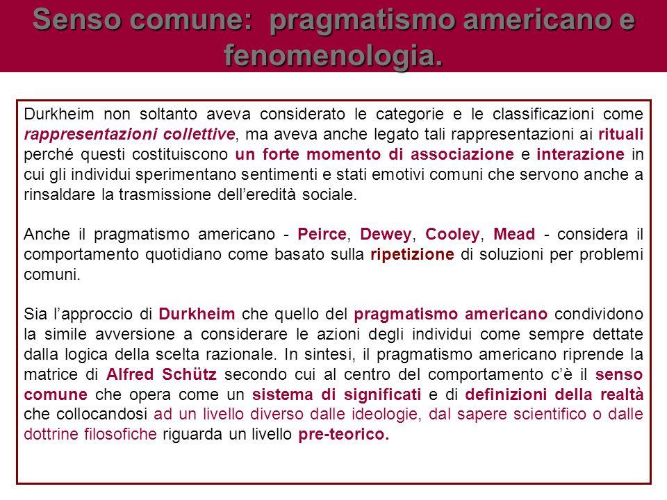 Durkheim non soltanto aveva considerato le categorie e le classificazioni come rappresentazioni collettive, ma aveva anche legato tali rappresentazion