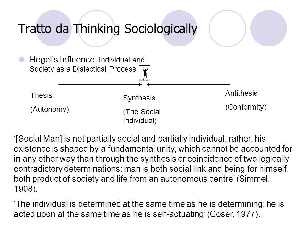 Dallindividuo alla società Loggetto della sociologia di Simmel sono le forme che assumono le relazioni di influenza reciproca e il processo in cui si reificano in forme stabili che è detto sociazione.