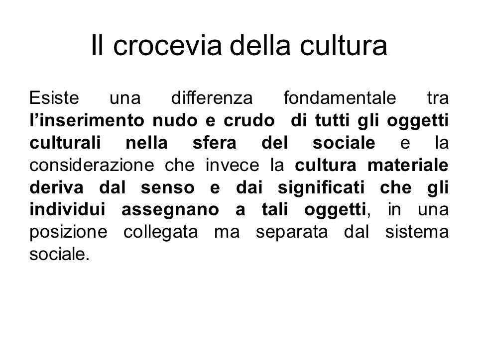 Esiste una differenza fondamentale tra linserimento nudo e crudo di tutti gli oggetti culturali nella sfera del sociale e la considerazione che invece