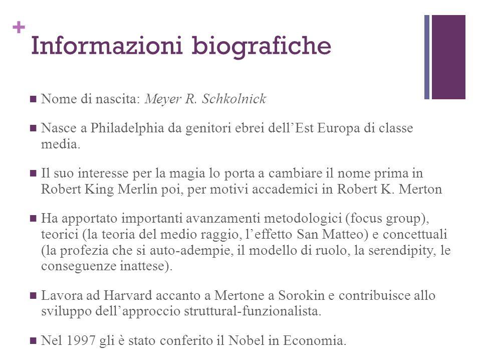 + Informazioni biografiche Nome di nascita: Meyer R. Schkolnick Nasce a Philadelphia da genitori ebrei dellEst Europa di classe media. Il suo interess