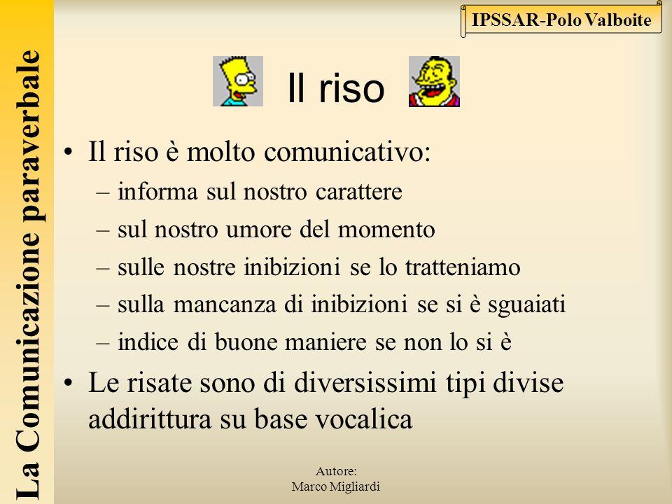 La Comunicazione paraverbale IPSSAR-Polo Valboite Autore: Marco Migliardi Pause e silenzi Pause piene (eeehm, mmm,…) e pause vuote (il silenzio). Non