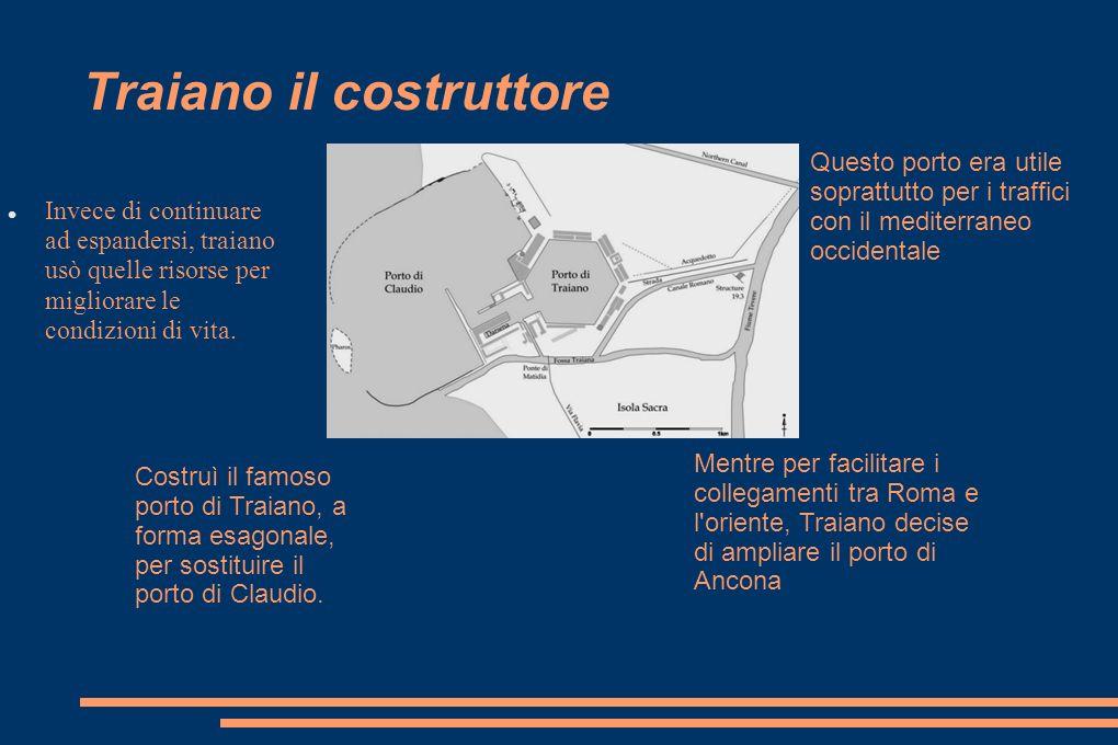 Costruì inoltre un altro canale, e il collegamento con Ostia fu assicurato con una strada a due corsie.