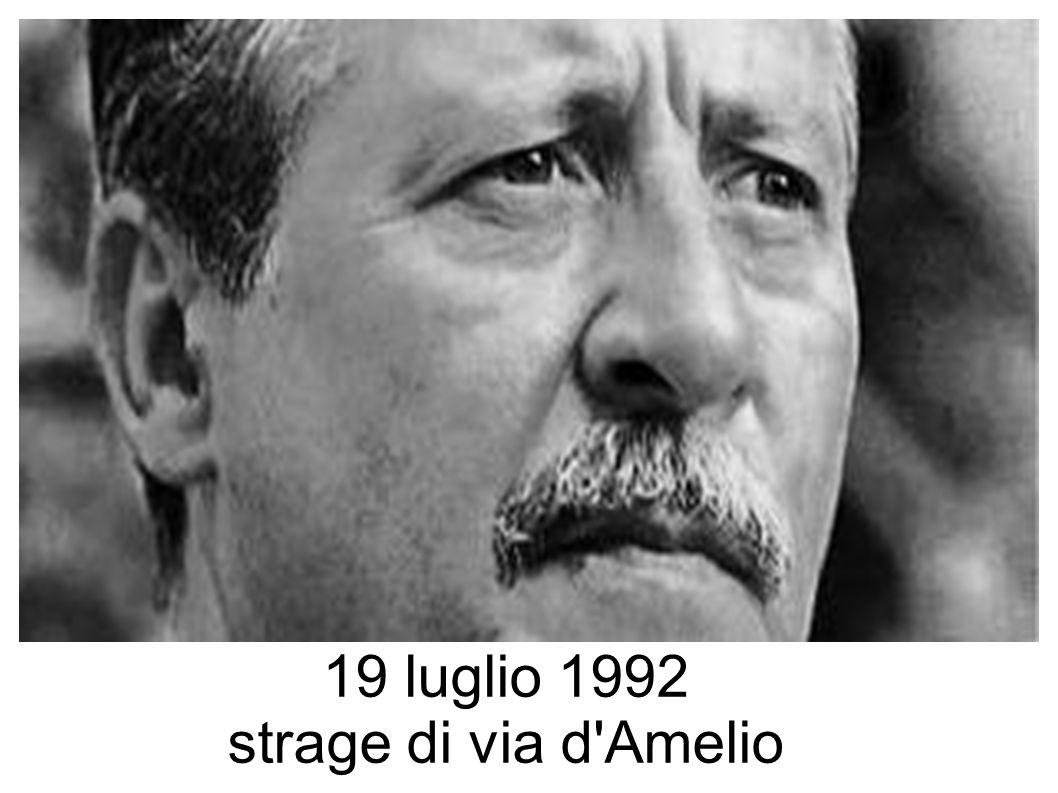 19 luglio 1992 strage di via d'Amelio