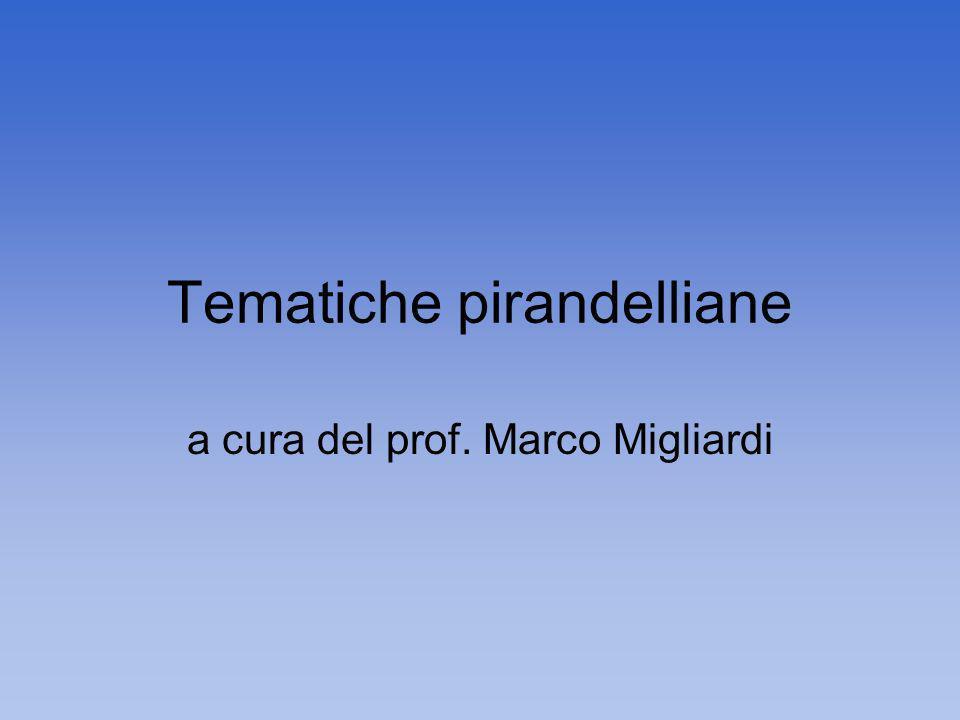 Tematiche pirandelliane a cura del prof. Marco Migliardi