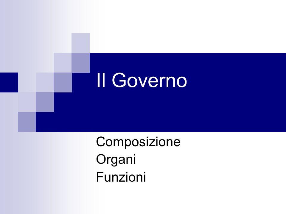 Il Governo Composizione Organi Funzioni