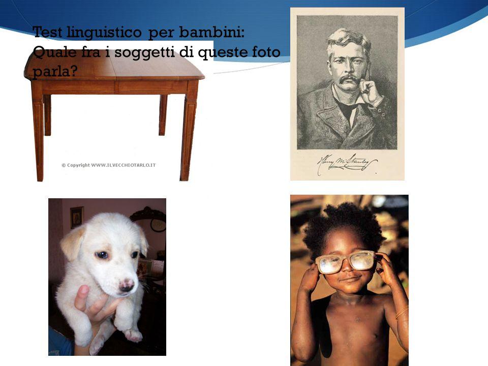 Test linguistico per bambini: Quale fra i soggetti di queste foto parla?