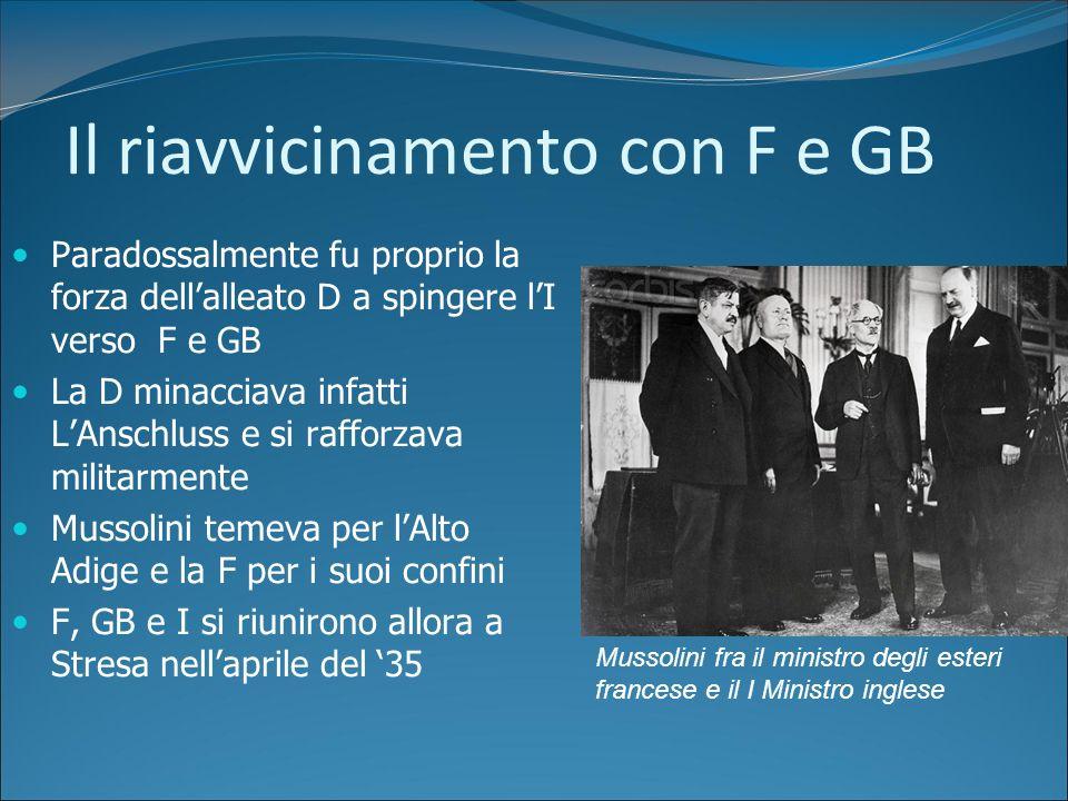La politica estera italiana Insieme alla Germania lItalia capeggiò il fronte revisionista che chiedeva una correzione dei Trattati di Versailles Si ac