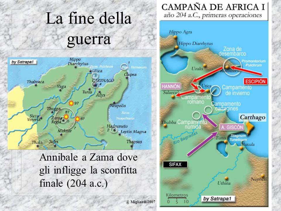 @ Migliardi 2007 La fine della guerra Scipione sbarca in Africa ed ha una prima vittoria a Utica Evita di assediare Cartagine, ottimamente difesa, e s