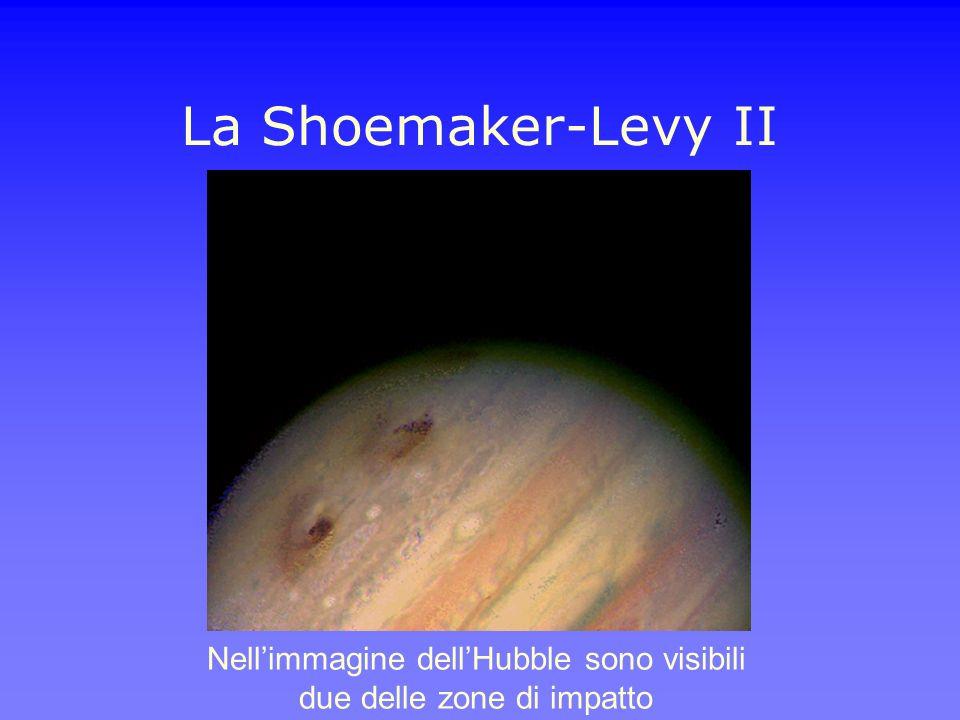 La Shoemaker-Levy II Nellimmagine dellHubble sono visibili due delle zone di impatto