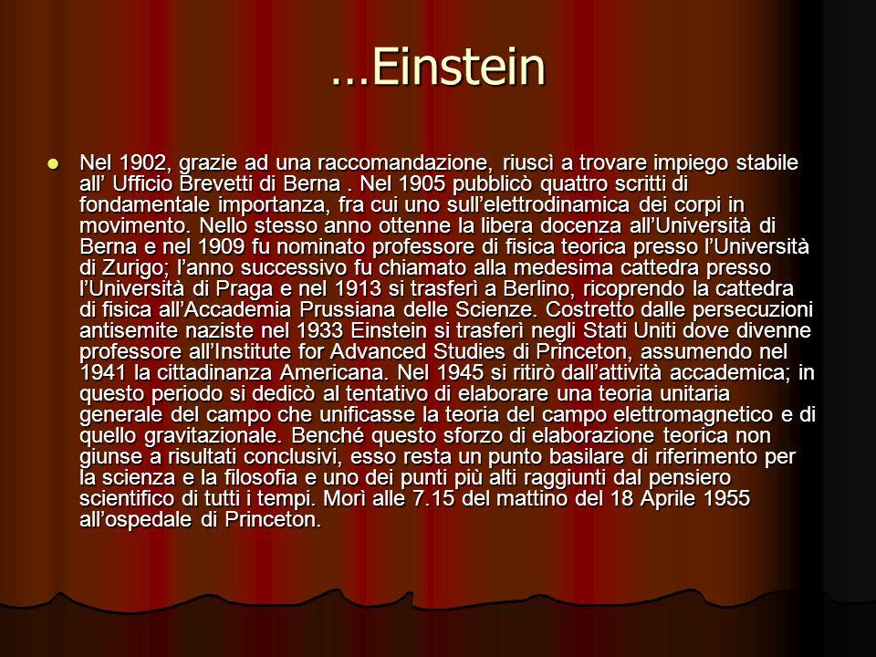 La vita di Albert… Albert Einstein nacque il 14 marzo 1879, da genitori ebrei nella città tedesca di Ulm, nel Wurttemberg.La famiglia si trasferì a Mo