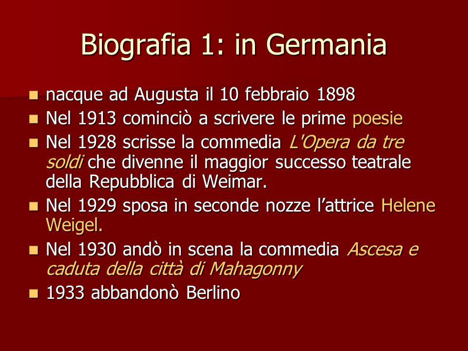 Biografia 1: in Germania nacque ad Augusta il 10 febbraio 1898 nacque ad Augusta il 10 febbraio 1898 Nel 1913 cominciò a scrivere le prime poesie Nel