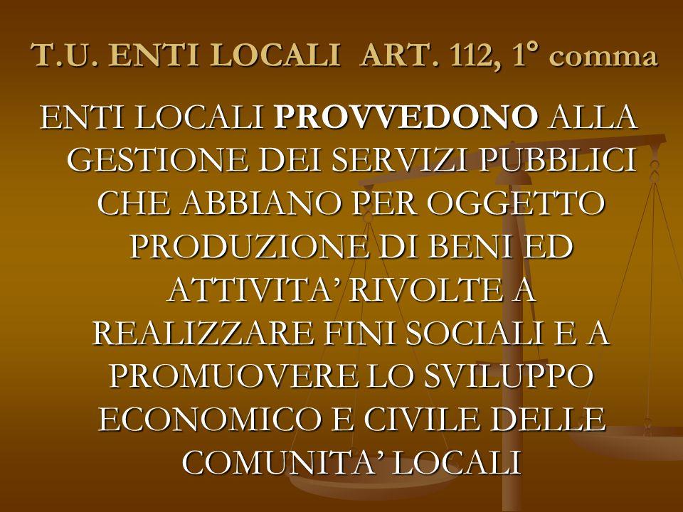 T.U. ENTI LOCALI ART.