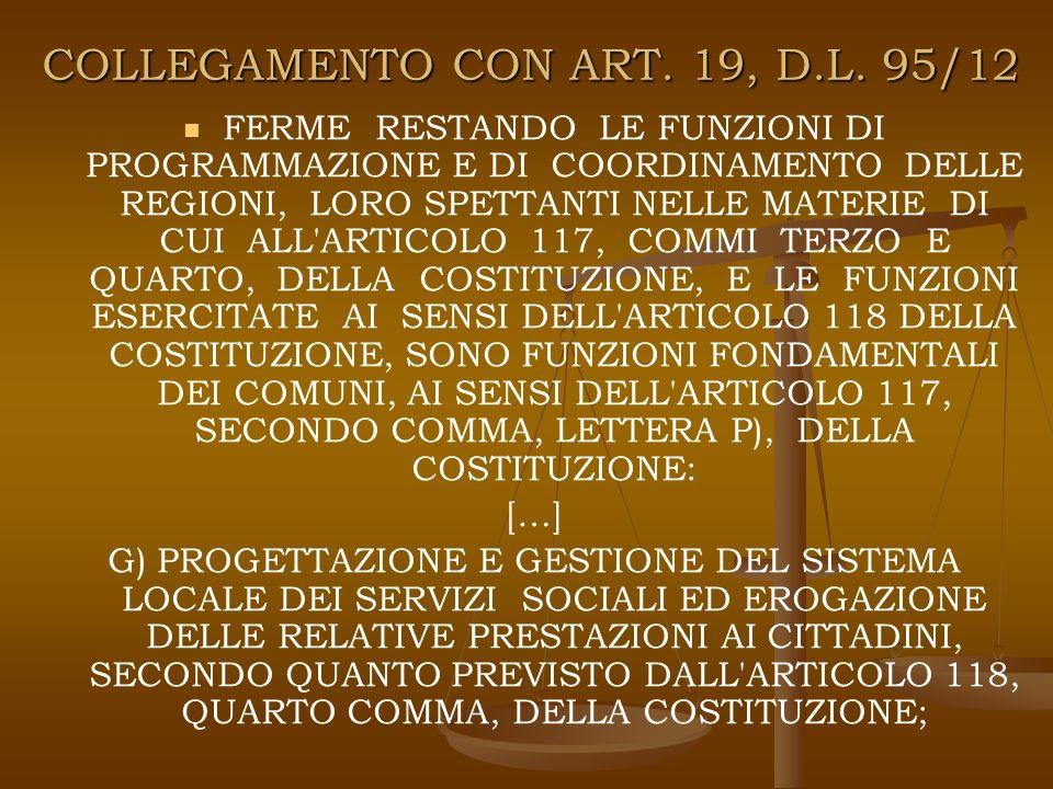 COLLEGAMENTO CON ART. 19, D.L.