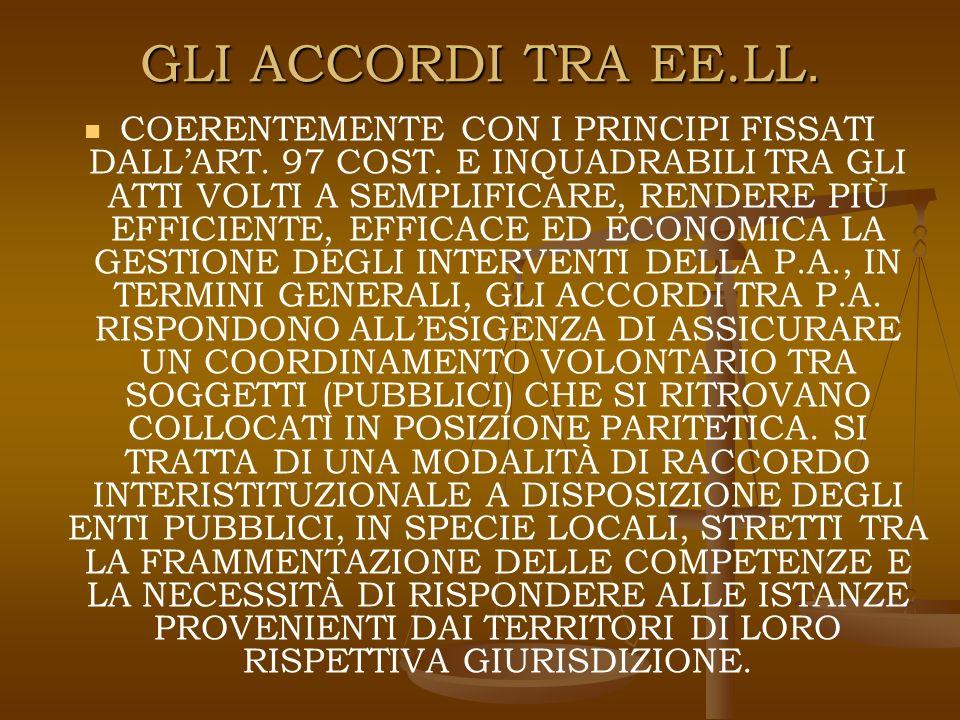 GLI ACCORDI TRA P.A.