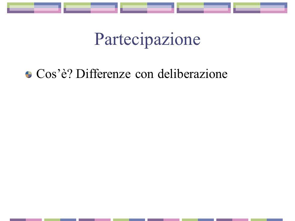 Partecipazione Cosè Differenze con deliberazione