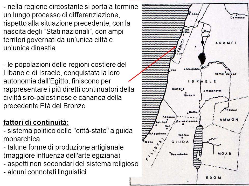 - nella regione circostante si porta a termine un lungo processo di differenziazione, rispetto alla situazione precedente, con la nascita degli Stati