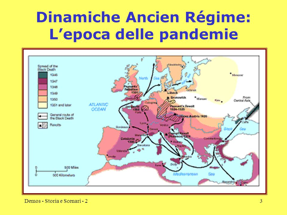 Demos - Storia e Scenari - 24 Dinamiche Ancien Régime: una cronaca locale A Napoli il contagio è portato nell aprile 1656 da navi in arrivo dalla Sardegna.