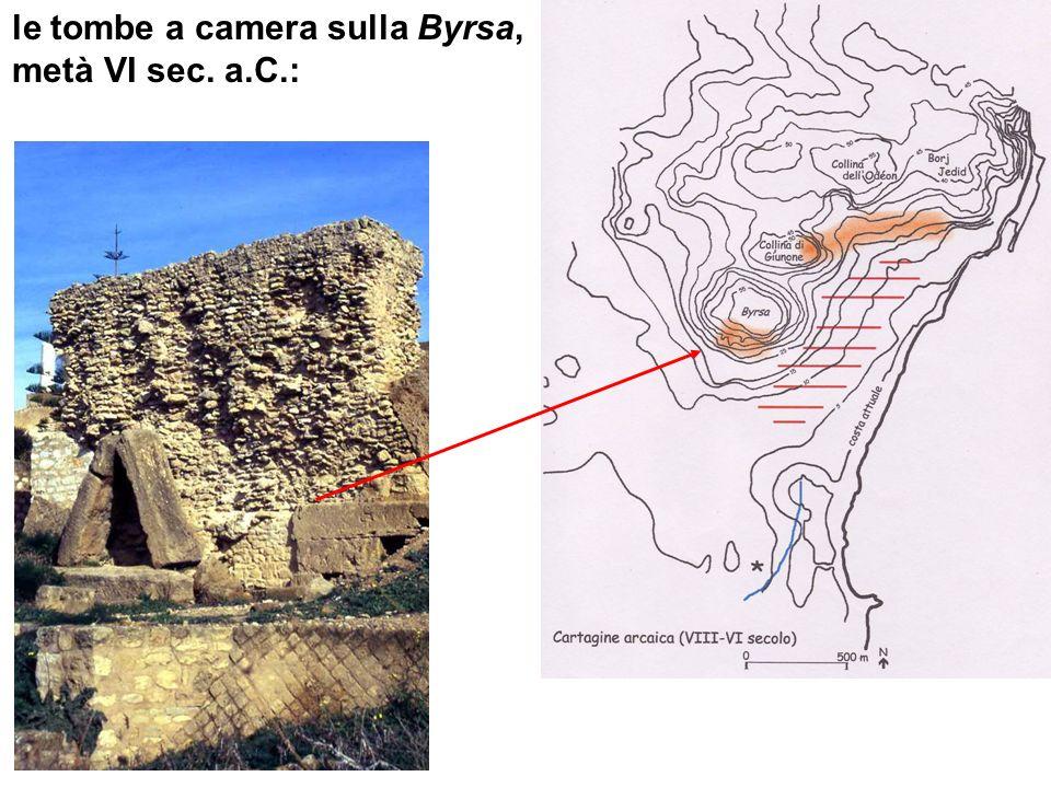 le tombe a camera sulla Byrsa, metà VI sec. a.C.: