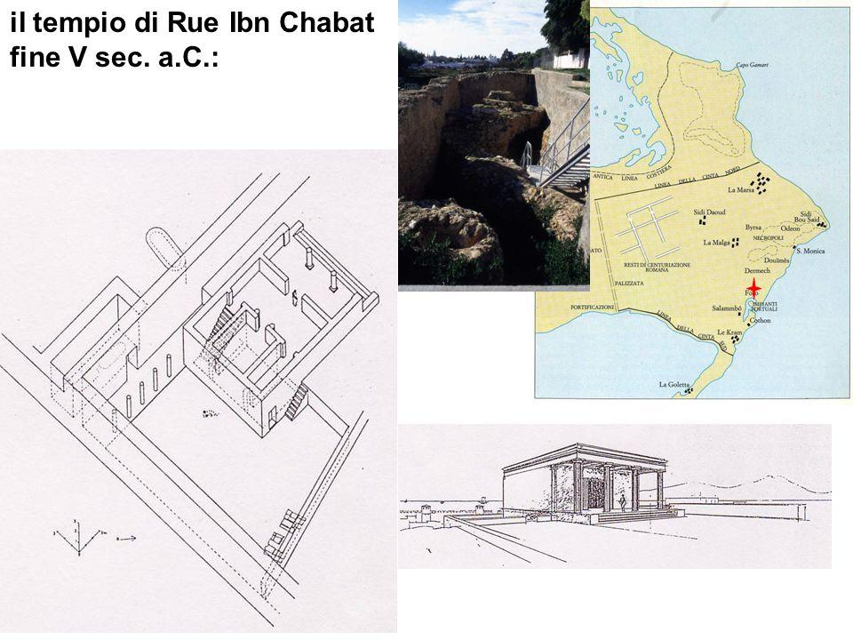 il tempio di Rue Ibn Chabat fine V sec. a.C.: