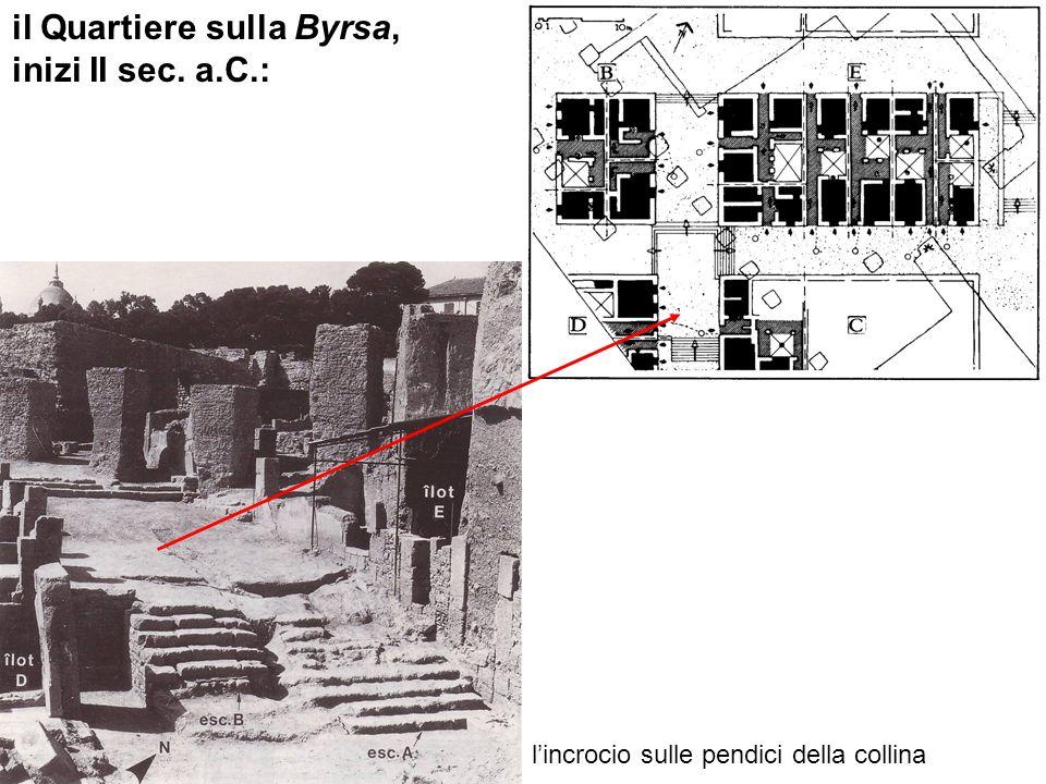 il Quartiere sulla Byrsa, inizi II sec. a.C.: lincrocio sulle pendici della collina