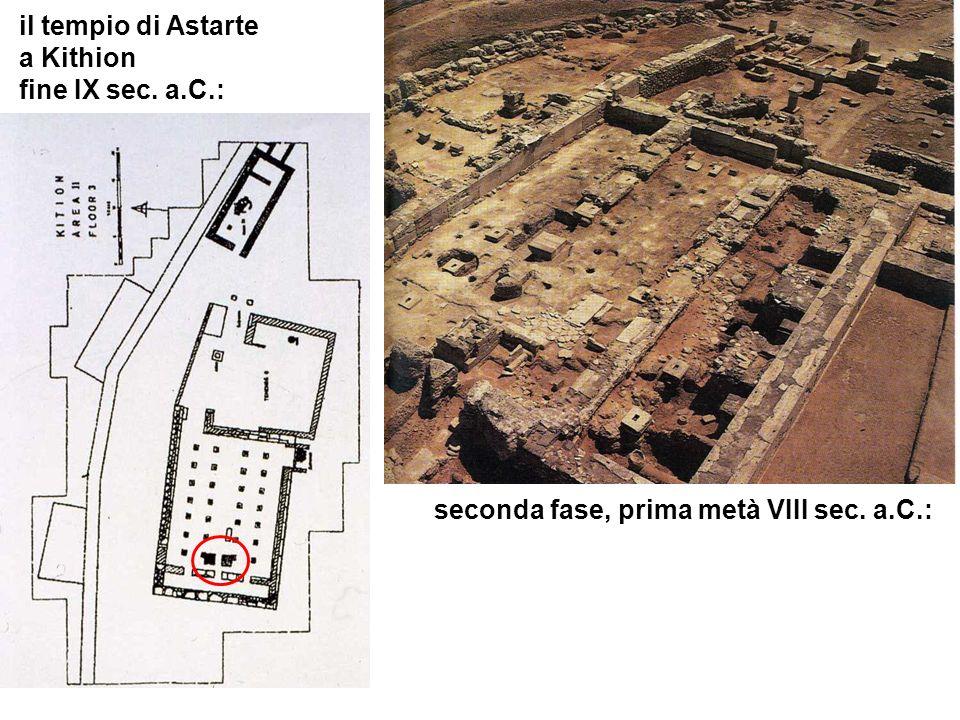 il tempio di Astarte a Kithion fine IX sec. a.C.: seconda fase, prima metà VIII sec. a.C.: