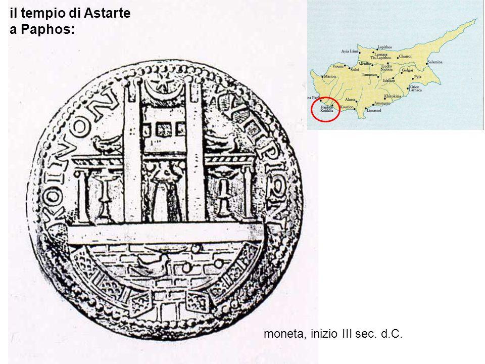 il tempio di Astarte a Paphos: moneta, inizio III sec. d.C.