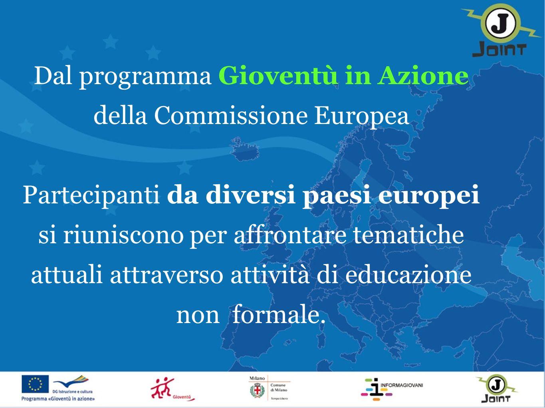 Dal programma Gioventù in Azione della Commissione Europea Partecipanti da diversi paesi europei si riuniscono per affrontare tematiche attuali attraverso attività di educazione non formale.