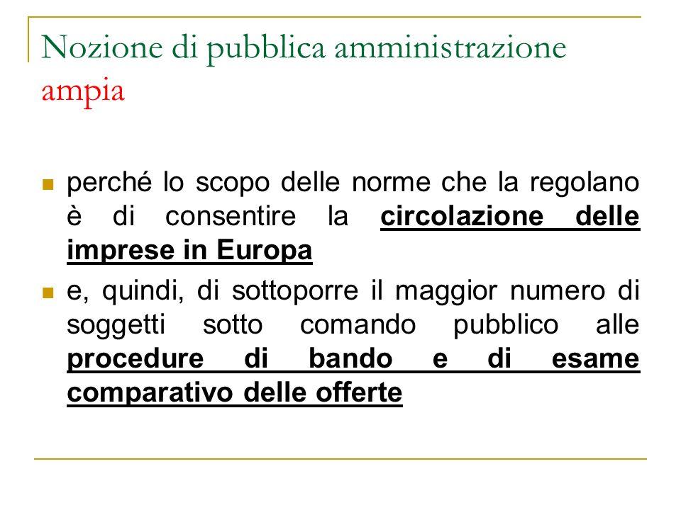 Nozione (restrittiva) del diritto europeo in deroga allart.