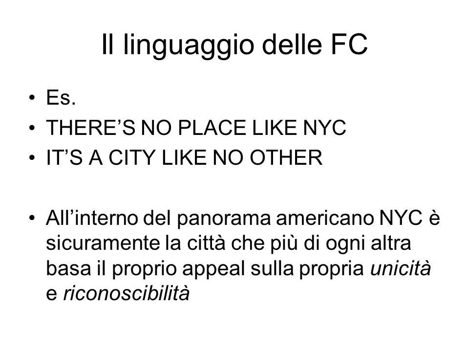 Il linguaggio delle FC Es.