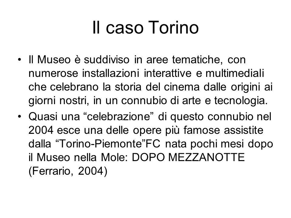 Il caso Torino Il Museo è suddiviso in aree tematiche, con numerose installazioni interattive e multimediali che celebrano la storia del cinema dalle origini ai giorni nostri, in un connubio di arte e tecnologia.