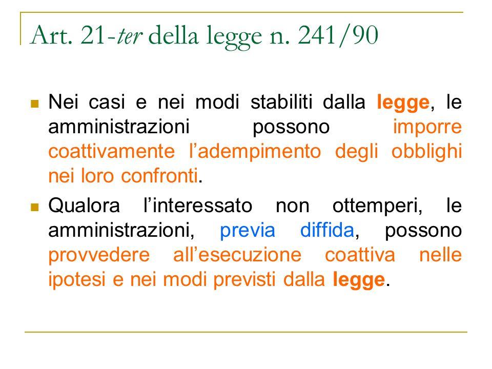 Art. 21-ter della legge n.
