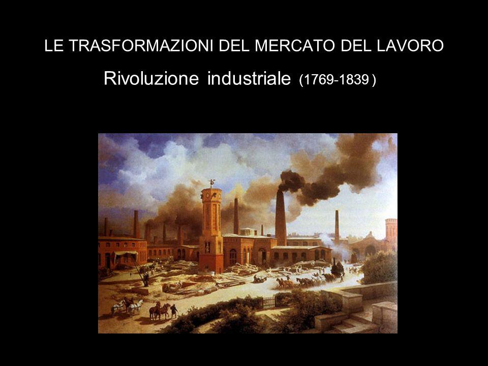 LE TRASFORMAZIONI DEL MERCATO DEL LAVORO Rivoluzione industriale (1769-1839 )