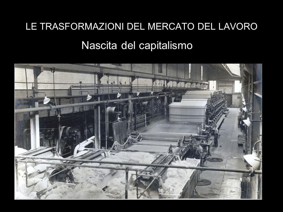 LE TRASFORMAZIONI DEL MERCATO DEL LAVORO Nascita del capitalismo
