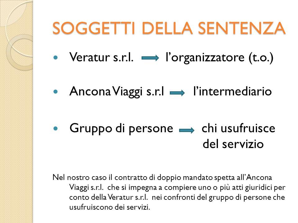 LA SEQUENZA DEI FATTI 1.In data 27.09.2000 un gruppo di persone si reca nella Ancona Viaggi s.r.l.