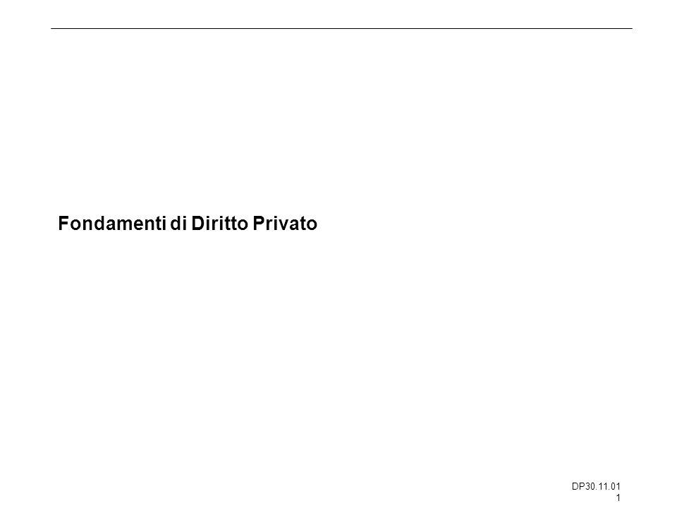 DP30.11.01 1 Fondamenti di Diritto Privato