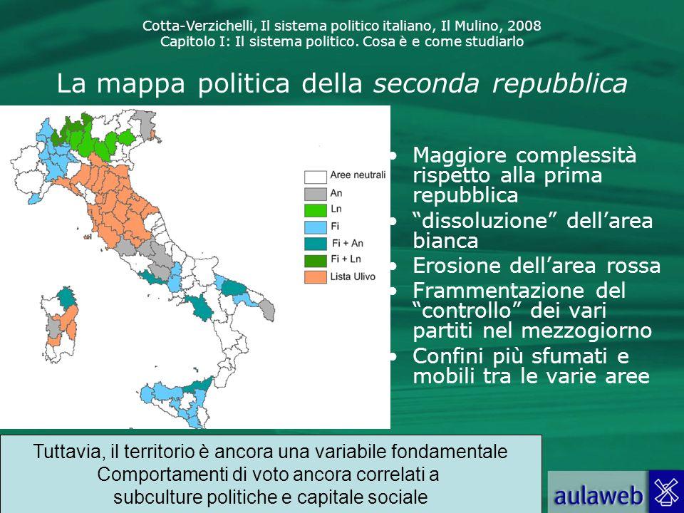 Cotta-Verzichelli, Il sistema politico italiano, Il Mulino, 2008 Capitolo I: Il sistema politico. Cosa è e come studiarlo La mappa politica della seco