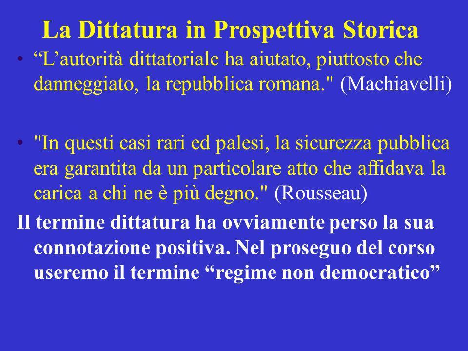 La Dittatura in Prospettiva Storica Lautorità dittatoriale ha aiutato, piuttosto che danneggiato, la repubblica romana.