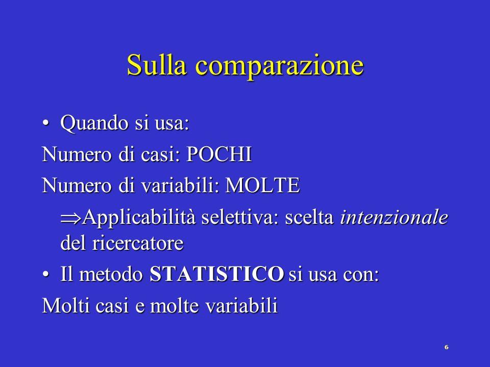 7 Sulla comparazione (Almond, 1956) Cul.Pol. Strut.