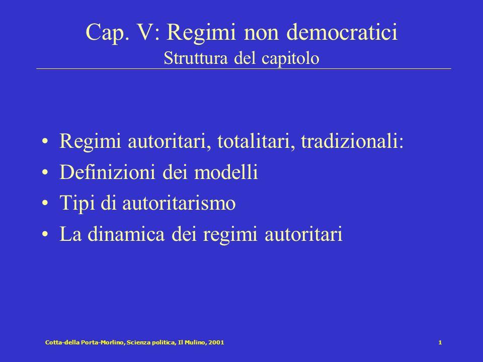 Cotta-della Porta-Morlino, Scienza politica, Il Mulino, 200111 La Crisi autoritaria Si hanno le condizioni per la crisi autoritaria quando la coalizione dominante alla base del regime si incrina.