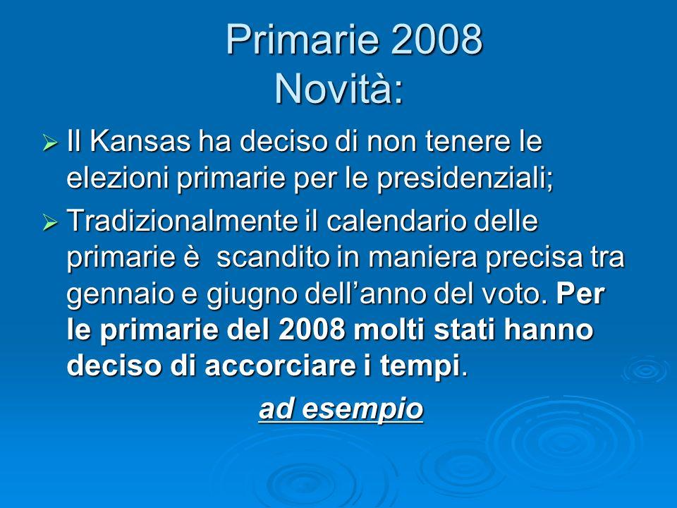 Primarie 2008 Novità: Primarie 2008 Novità: Il Kansas ha deciso di non tenere le elezioni primarie per le presidenziali; Il Kansas ha deciso di non te