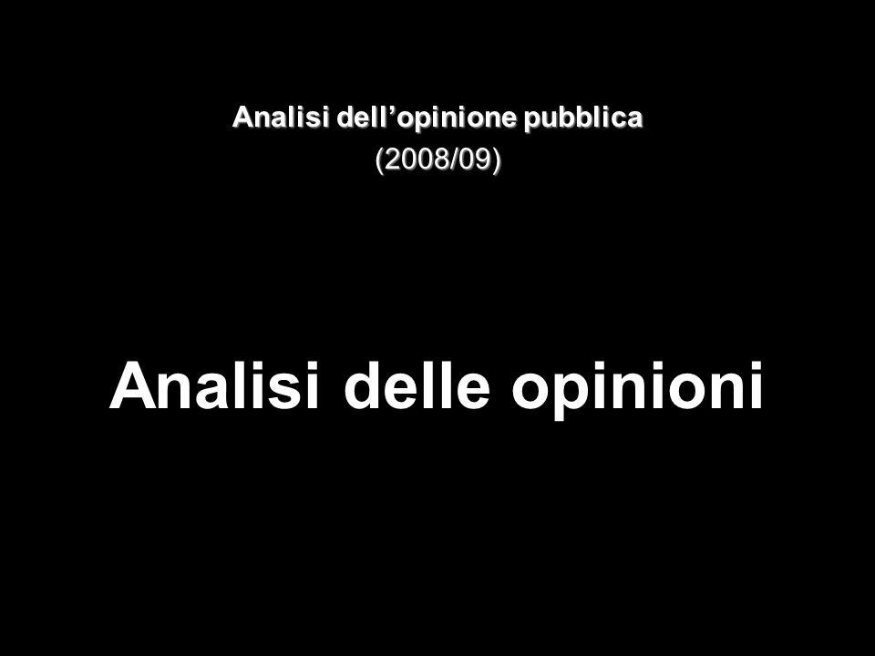 Analisi dellopinione pubblica (2008/09) Analisi delle opinioni