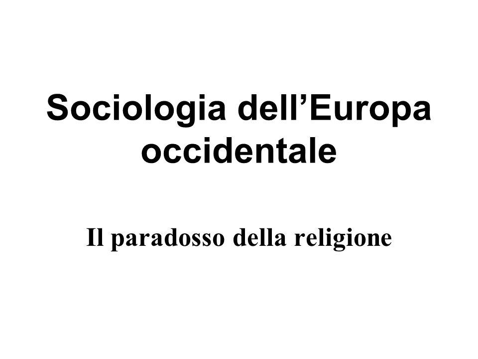 Sociologia dellEuropa occidentale Il paradosso della religione