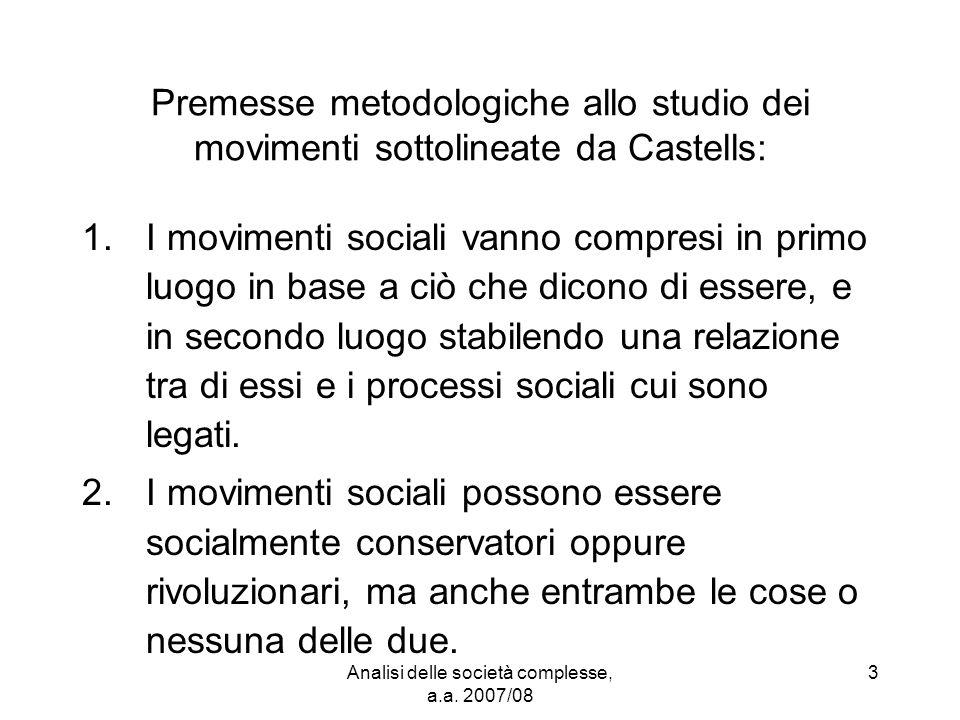 Analisi delle società complesse, a.a.